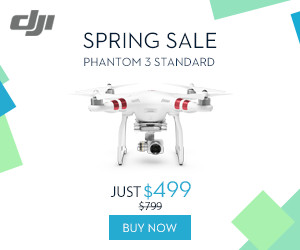 Save $300 on DJI Phantom 3 Standard - DJI Spring Sale 2016