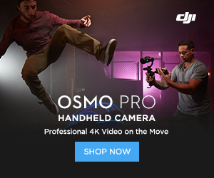 DJI Osmo PRO Handheld Camera - Professional 4K Video on the Move