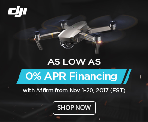 As low as 0% APR with Affirm in DJI Store