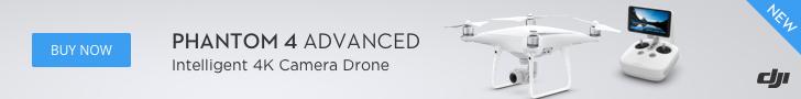 DJI Phantom 4 Advanced - Intelligent 4K Camera Drone.