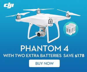 Save $178 on DJI Phantom 4 with Two Extra Batteries