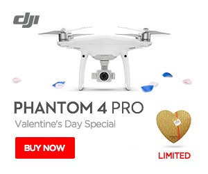 DJI Phantom 4 Pro - Get a limited edition Valentine's Day Gift set.