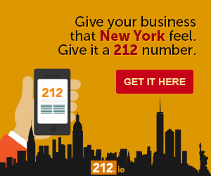 Give your business that New York feel. Give it a 212 number. Get it here.