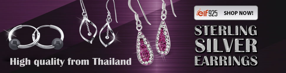 Sterling silver earrings from manufacturer