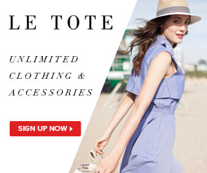 LE TOTE clothing and accessory rental