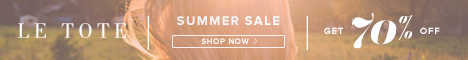 Check out LE TOTE's Summer Sale - Up to 70% Off