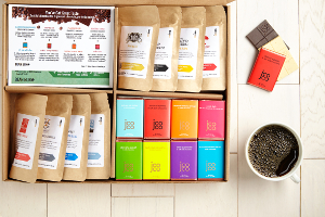 8 Coffees + 8 Chocolates box to help ease holiday craziness