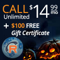 Halloween Day Deals Unlimited International VoIP Phone Calling $14.99