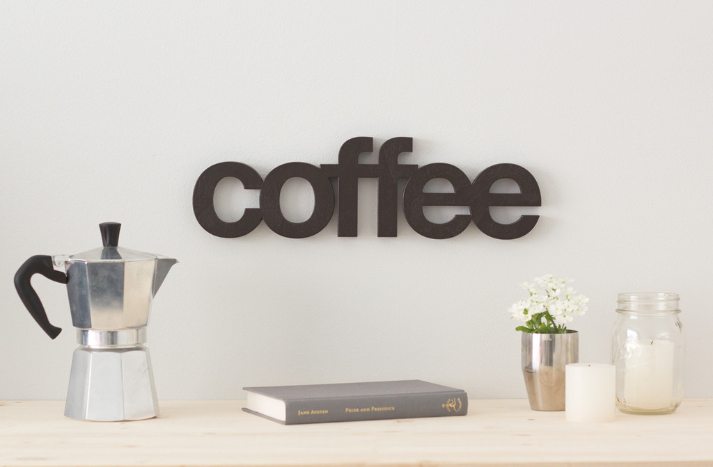Modern Wooden Word Signs