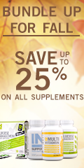 Bundle up this Fall - Save up to 25% on all supplements