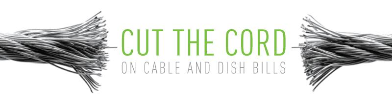 Cut the cord on cable and dish bills with the Mohu HDTV antenna!