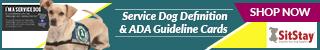 Service Dog Definition & ADA Guideline Cards