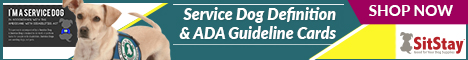 Service Dog Definition & ADA Guideline Cards