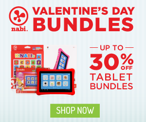 Valentine's tablet bundles at nabishop.com