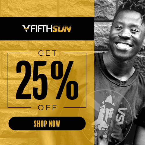 Save 25% sitewide at FifthSun.com. No coupon code necessary.