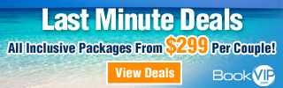 Attention Beach Lovers!  Now get 5 nights All Inclusive vacations with unlimited Meals and Drinks including alcohol for only $299 per couple and kids stay FREE!   Click here!
