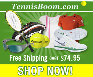 Tennis Boom - Free UPS Ground Shipping on Orders Over $74.95