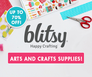 Blitsy Craft Supplies Up to 70% Off and Free Shipping on Orders Over $29.99