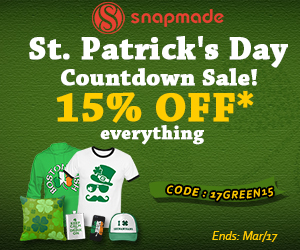 Snapmade 2017 St. Patrick's Day - 15% OFF Sitewide - 300*250