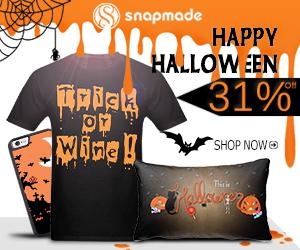 Snapmade 2017 enjoy 31% Off for Halloween- 300*250