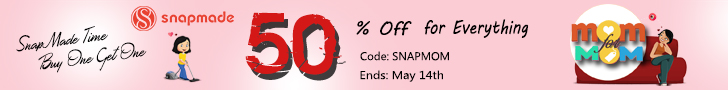 Snapmade 2017 Mom's Day 50% off For All-728*90