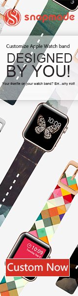 Snapmade 2015 - Custom Apple Watch Bands - 160*600