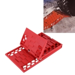 SHUNWEI SD-X001 Car Traction Mat Foldable Auto Escaper Buddy Non-Slip Mats Winter Roads Instant Traction Tire Grip Set Snow Mud(Red)