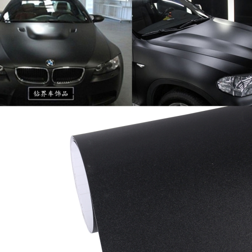 1.52m x 0.5m Grind Arenaceous Auto Car Sticker Pearl Frosted Flashing Body Changing Color Film for Car Modification And Decoration(Black)