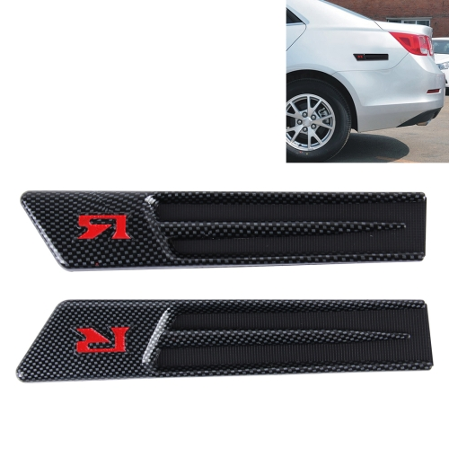 Yuesheng 2 PCS Car Side Air Intake Flow Vent Fender Decorative Stickers Cover