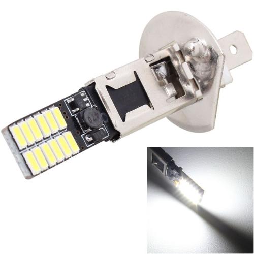 2PCS H1 4.8W 720LM 6500K White Light 24 LED SMD 4014 Error-Free Canbus Car Clearance Lights Lamp, DC 12V