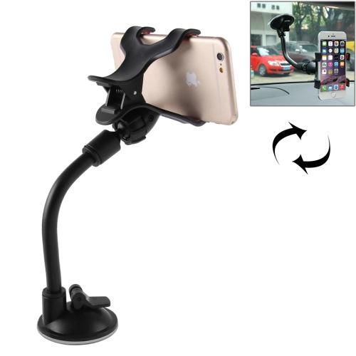 Universal 360 Degree Rotation Suction Cup Car Holder / Desktop Stand for All Mobile / MP4 / PDA / PSP / GPS, Size Range: 3.5cm - 8.3cm(Black)