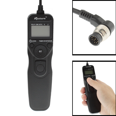Aputure AP-TR1N LCD Timer Remote Cord for Nikon D300s, D3X, D3, D700, D300, D200, D2Xs, D2Hs,D2X, D2H, D1H, D1X, D1, N90s, F5, F6, F100, F90, F90X, D4, D800, D3S, D800E, Fujifilm S5 Pro, S3 Pro, Kodak DCS-14n