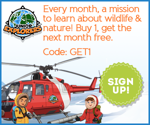 Buy 1 month of Junior Explorers, get the next month free with code: GET1
