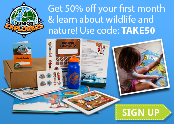 Take 50% off your first month of any Junior Explorers subscription with code: TAKE50.