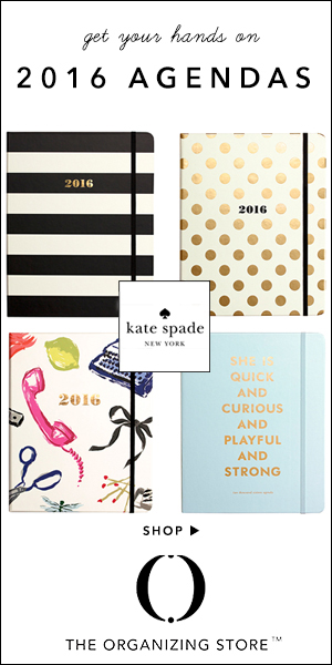 Shop kate spade new york 2016 Agendas at The Organizing Store