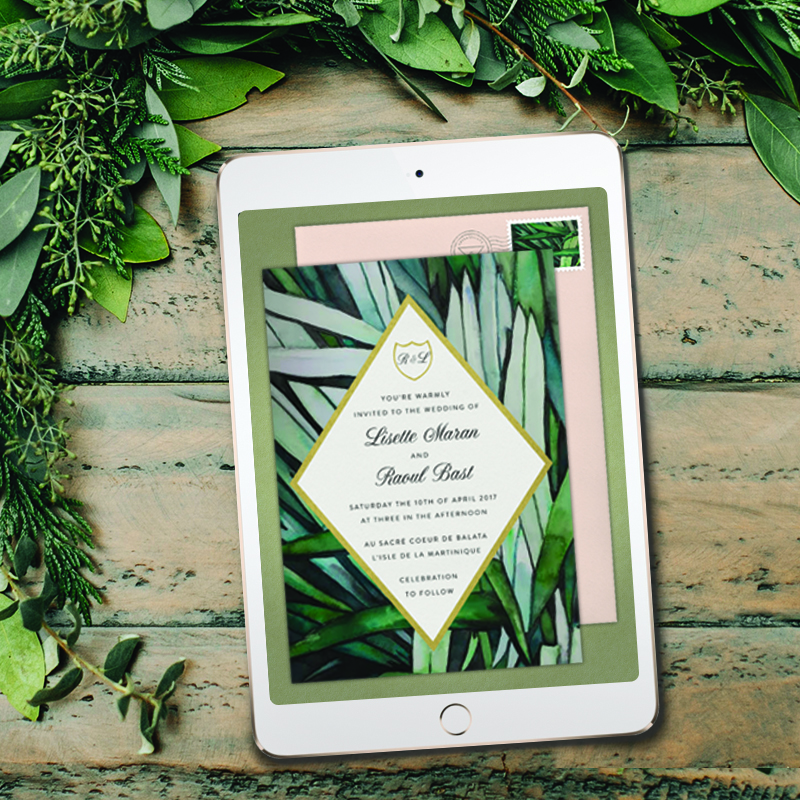 elegant digital invitations for the modern couple at Greenvelope.com