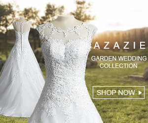 Garden themed wedding dresses and bridesmaid dresses