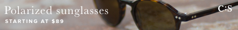 Sunglasses starting at $89