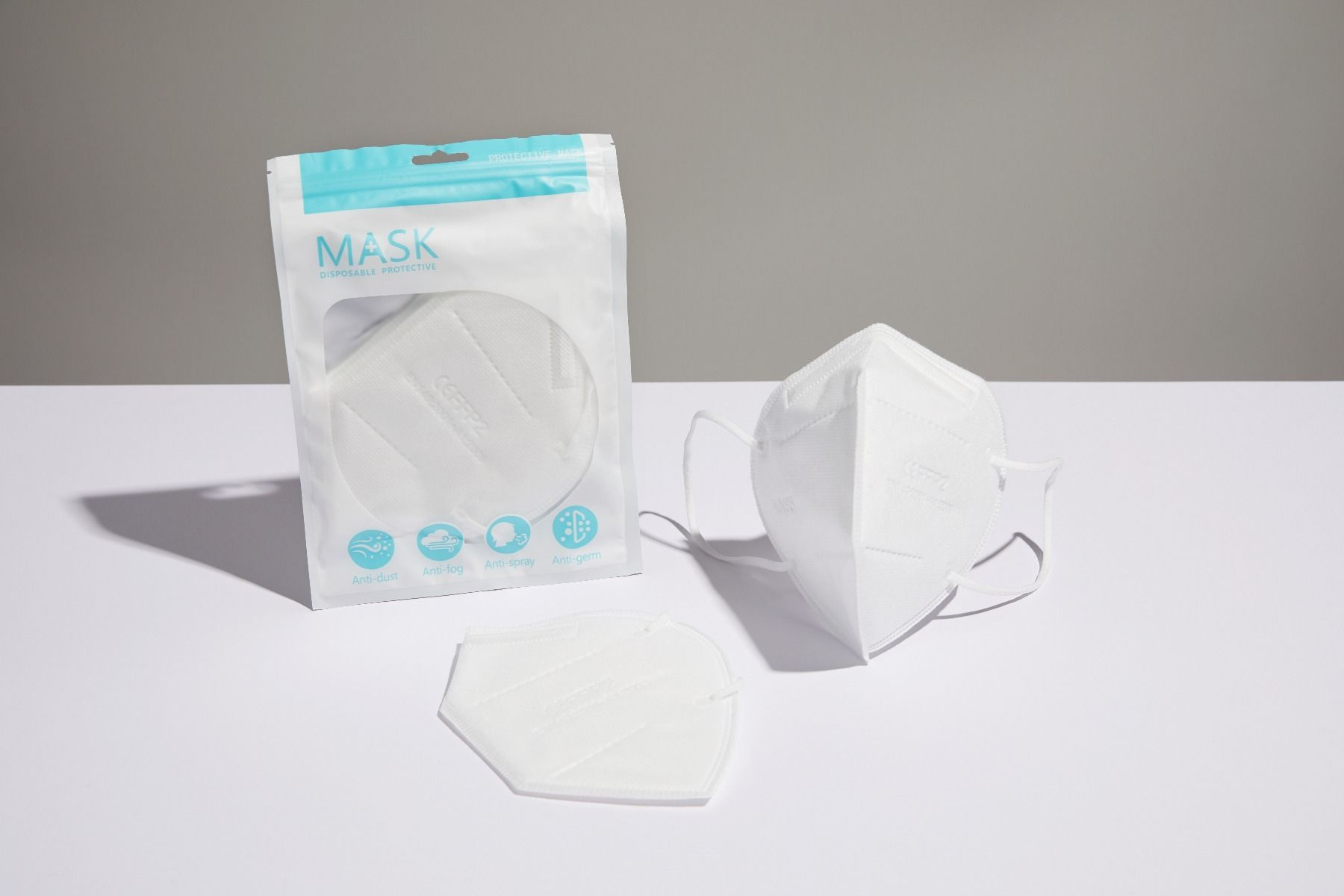 KN95 Mask, White, Pack of 20
