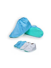 Waterproof Reusable Shoe covers, Blue, Box of 10