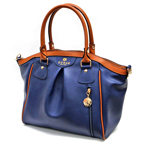 High-end vegan handbags: Gunas Madison in Navy