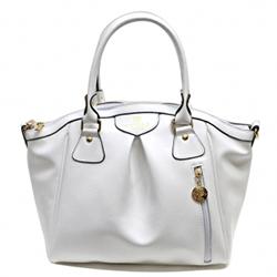 A white handbag.