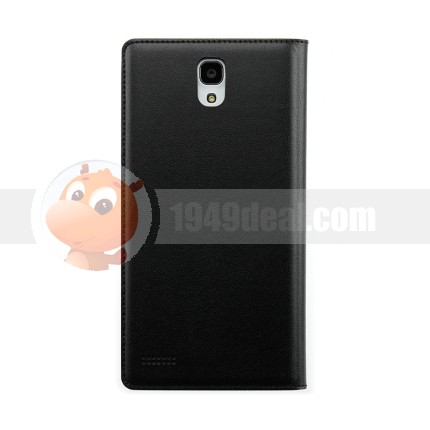 Original Insert Card Function Flip PU Leather Case Protector Cover For XIAOMI Hongmi Note Black