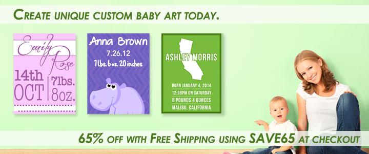 Custom Baby Canvas Art Sale!