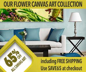Custom Flower Canvas Art Sale!