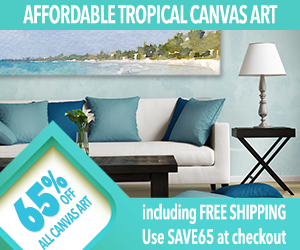 Custom Canvas Tropical Art Sale!