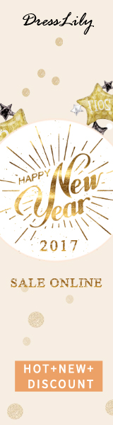New year will come soon, it is the most suitable time to buy gifts to celebrate new year. You can enjoy free shipping and up to 80% off at Dresslily. Don't miss it! (Ends: 1/1/2017)