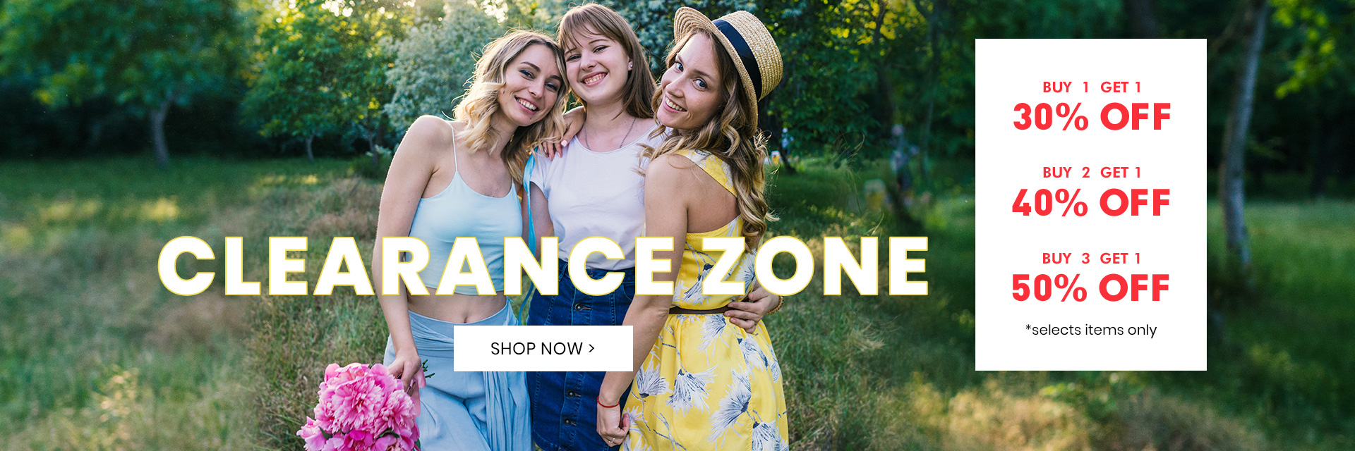 50% Off Summer Clearance Zone Sale