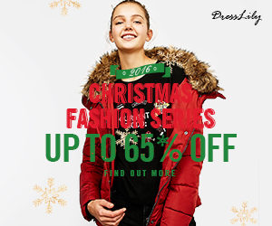 Christmas Day will come soon, it is the most suitable time to buy gifts to celebrate Christmas. You can enjoy free shipping and up to 65% off at Dresslily. Don't miss it! (Ends: 12/26/2016)