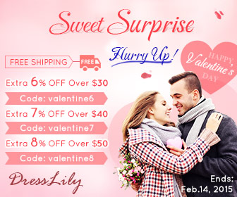 Happy Valentine's Day! Sweet Surprise for Your Lover! (Ends: Feb.14, 2015)